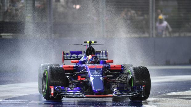 Carlos Sainz, durante el GP de Singapur