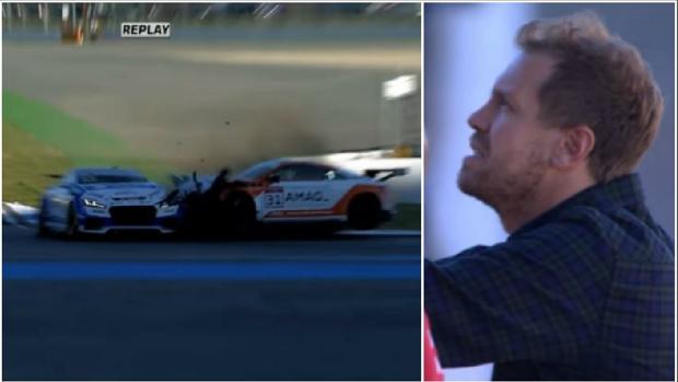 El mal rato de Vettel por un accidente de su hermano