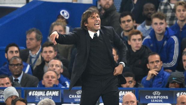 Antonio Conte, durante el Chelsea-Roma en Stamford Bridge