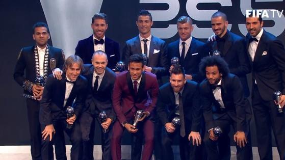 El Once Ideal de los Premios The Best