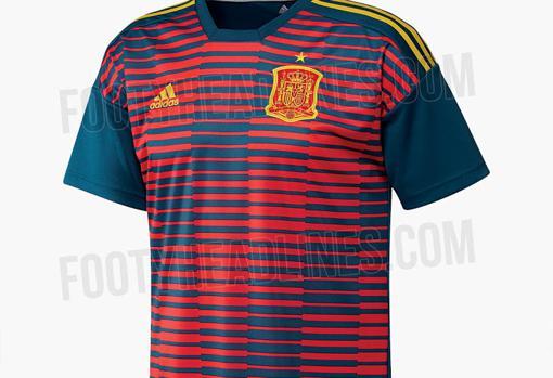 dc42f2b3ed Selección española  Filtran la camiseta de calentamiento de España ...