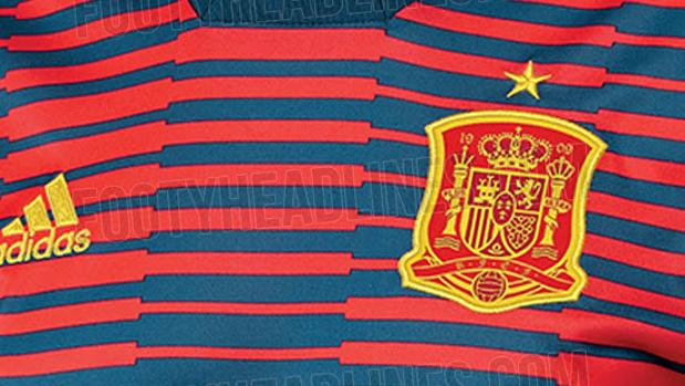 Selección españolaFiltran la camiseta de calentamiento de España en el  Mundial de Rusia 765705d2a1d93