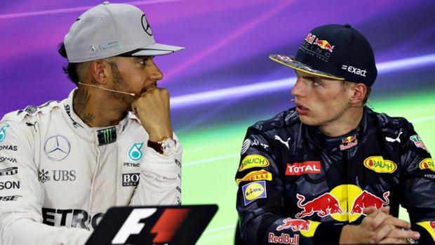 Hamilton y Verstappen, en mitad de una rueda de prensa