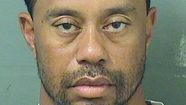 Tiger Woods, cuando fue detenido por la policía el pasado mes de mayo