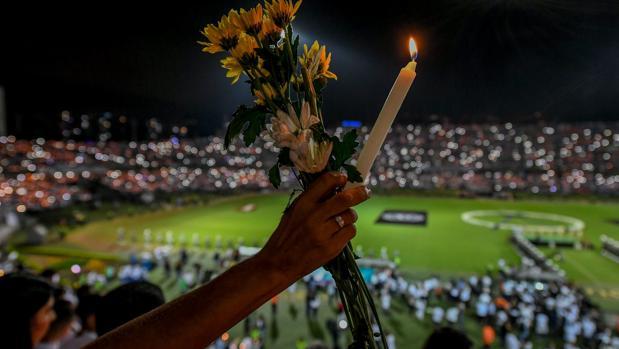 Imagen del homenaje a las víctimas el 30 de noviembre de 2016