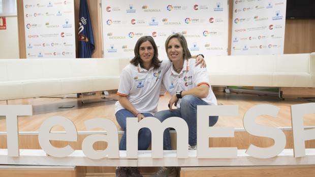 Maialen Chourraut y Teresa Portela posan para ABC