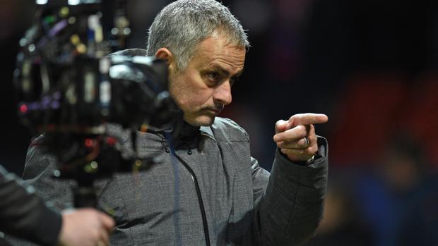 Mourinho, en el último partido de Champions del United