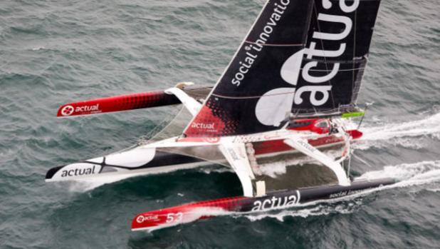Yves le Blevec vuelca con el «Actual Ultime» al virar cabo Hornos hacia el Pacifico
