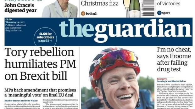 Cautela en la prensa inglesa tras el positivo