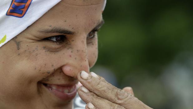 Laia Sanz tras acabar una carrera
