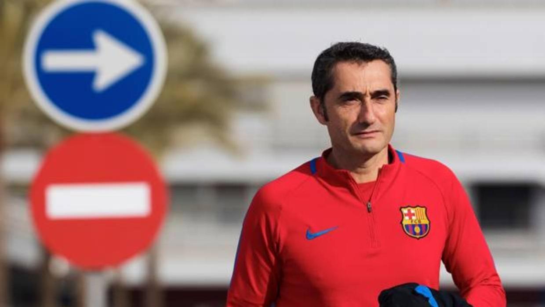 Valverde no asegura la titularidad de Dembélé
