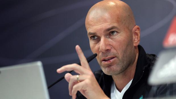 Zinedice Zidane en la rueda de prensa previa al partido frente al Numancia