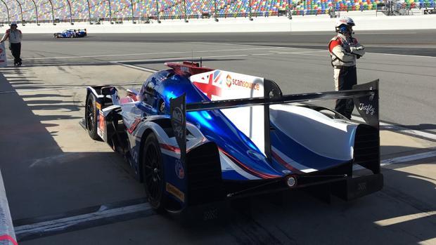 El Ligier LMP2 de Alonso, a punto de salir a pista