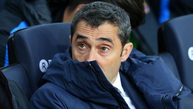 Ernesto Valverde durante el partido ante el Levantet