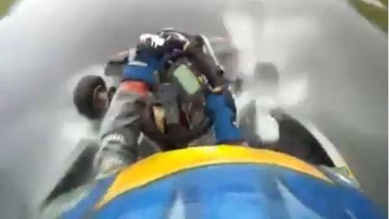 Espectacular vídeo de Fernando Alonso con su kart bajo el temporal