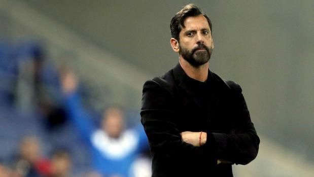 Quique Sánchez Flores durante el partido de Copa de Rey