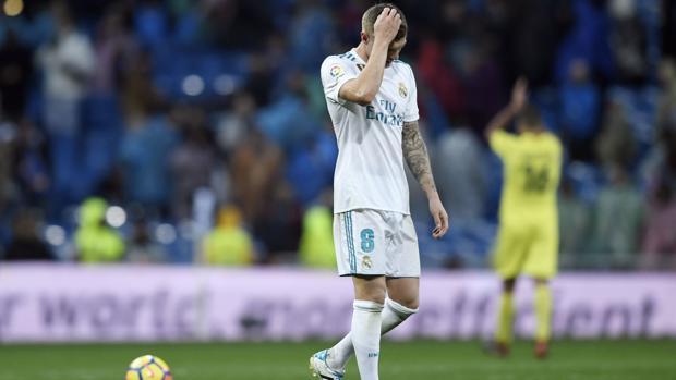 Kroos se retira del campo cabizbajo tras el triunfo del Villarreal