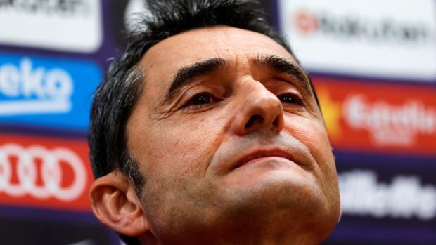 Ernesto Valverde durante la rueda de prensa previa al partido ante la Real Sociedad