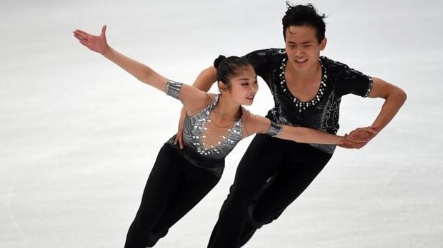 Kim Ju-sik y Ryom Tae-ok, patinadores norcoreanos que acudirán a los Juegos Olímpicos de Invierno