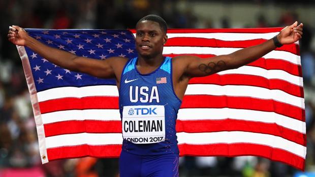 Christian Coleman, en el pasado Mundial al aire libre, en Londres