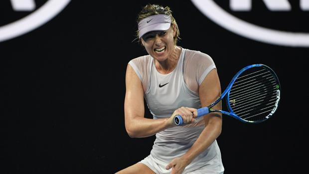 Maria Sharapova, durante su duelo de tercera ronda ante Kerber