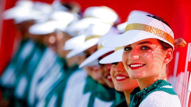 Azafatas en el Gran Premio de Melbourne