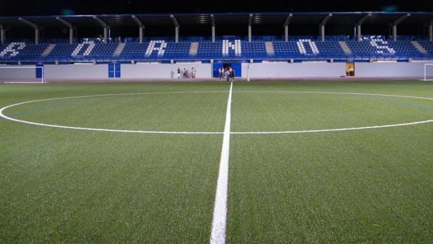 Estadio Luis Vega de Bornos (Cádiz), escenario del partido entre la UD Bornense y el Afición Xerecista