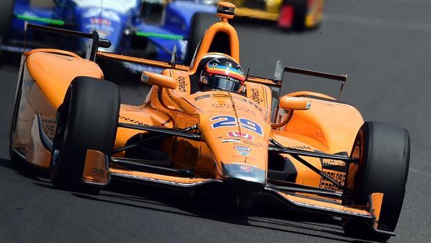 Alonso, al volante del McLaren-Andretti de Indianápolis
