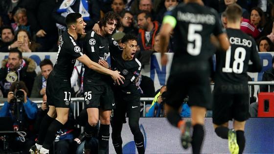 El PSG celebra el gol de Rabiot que supuso el 0-1