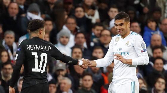 Neymar y Casemiro, dos compatriotas, hoy rivales