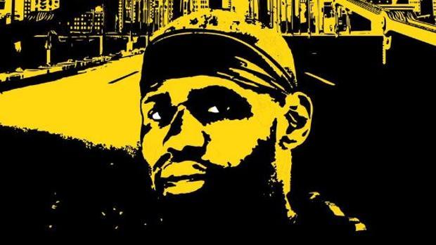 LeBron James en el cartel que pide su fichaje por la NFL