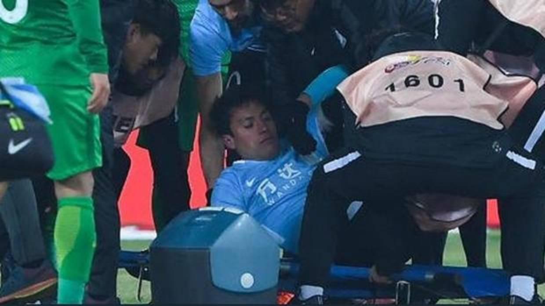 Espeluznante caída de Nico Gaitán en China