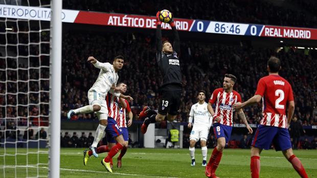 Imagen del Atlético-Real Madrid disputado en el Wanda Metropolitano