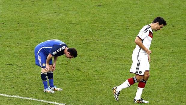 Leo Messi durante la final del Mundial de 2014 contra Alemania