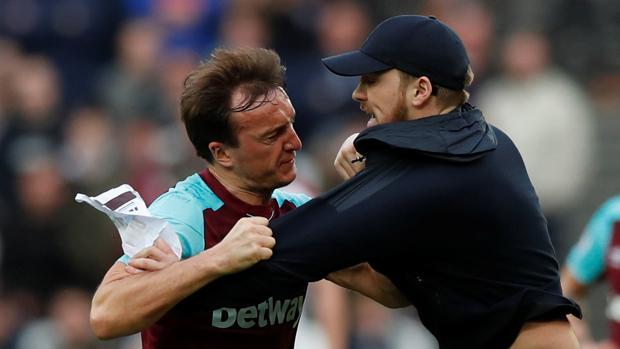 Un momento del partido entre West Ham y Burnley, cuando se produjeron los hechos