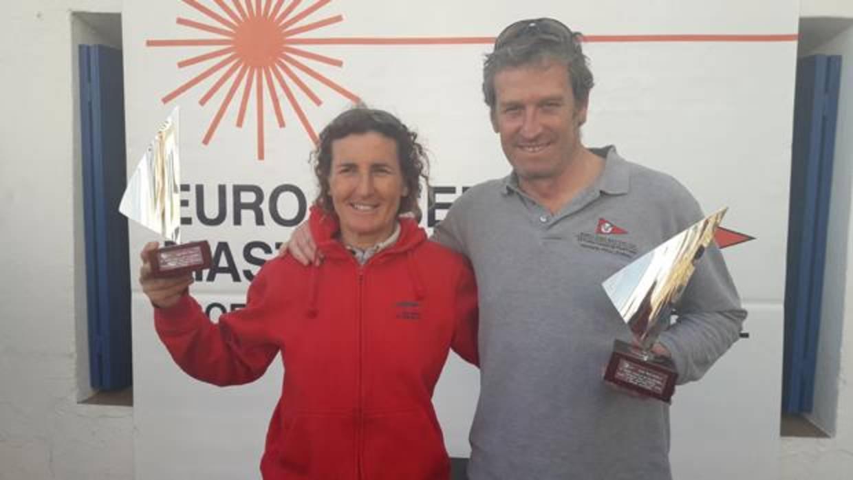 Antoni Roig y Mónica Azón, vencedores del Euro Laser Masters Cup