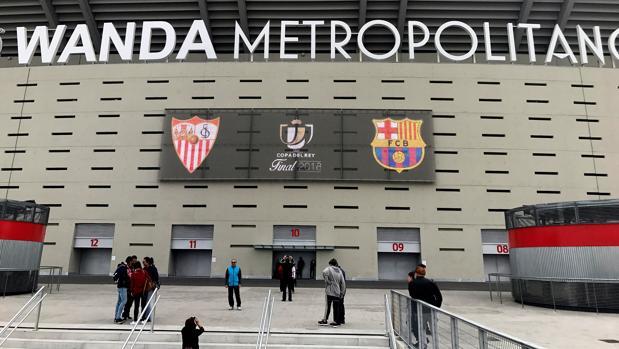 El Wanda, listo para la final de Copa entre Sevilla y Barcelona