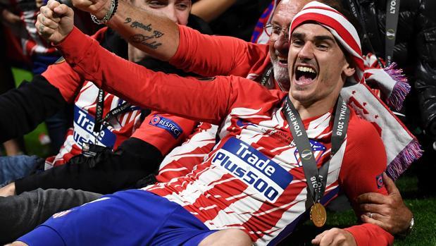 Griezmann celebra la conquista de la Europa League