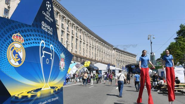 La ciudad de Kiev se prepara para acoger la final de la Champions League