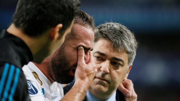 Carvajal se va del campo entre lágrimas en la final de la Champions League 2018