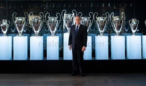 Florentino, con las 13 Champions