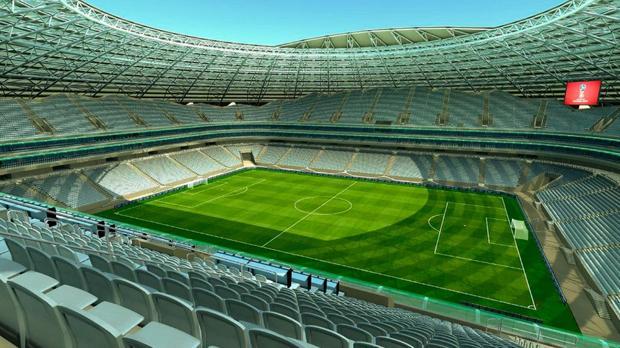 Vista de las gradas del estadio Samara Arena, sede del Mundial de Rusia 2018