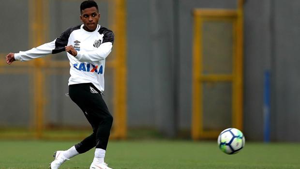 Rodrygo, jugador del Santos