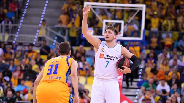 Luka Doncic, durante las semifinales de la ACB