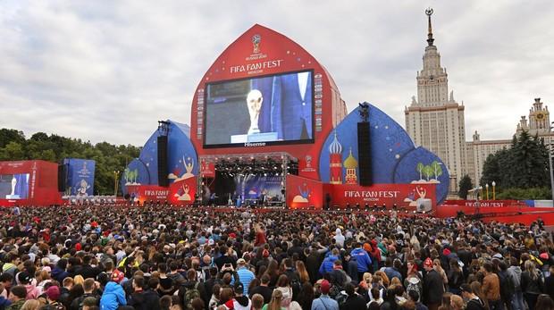 Fan Zone del Mundial de Rusia instalada en Moscú
