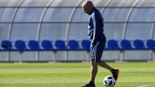 El entrenador de la selección de Argentina, Jorge Sampaoli