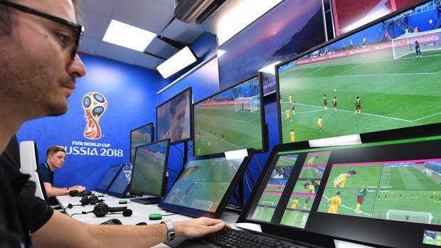 Una imagen del VOR, centro de operaciones del videoarbitraje en Rusia 2018