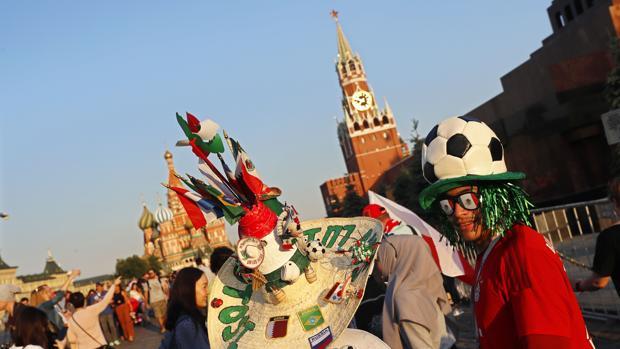 La afición de México durante el Mundial de Rusia