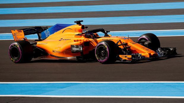 El McLaren de Alonso en acción