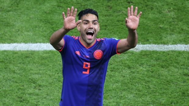 El colombiano Falcao celebra la victoria ante Polonia
